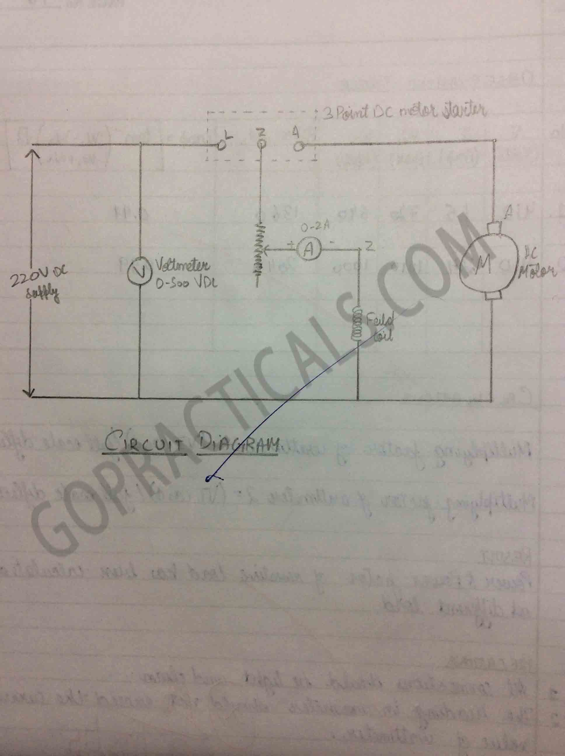 Speed Control Of A Dc Shunt Motor By Field Method Wiring Diagram For Series Wound 2