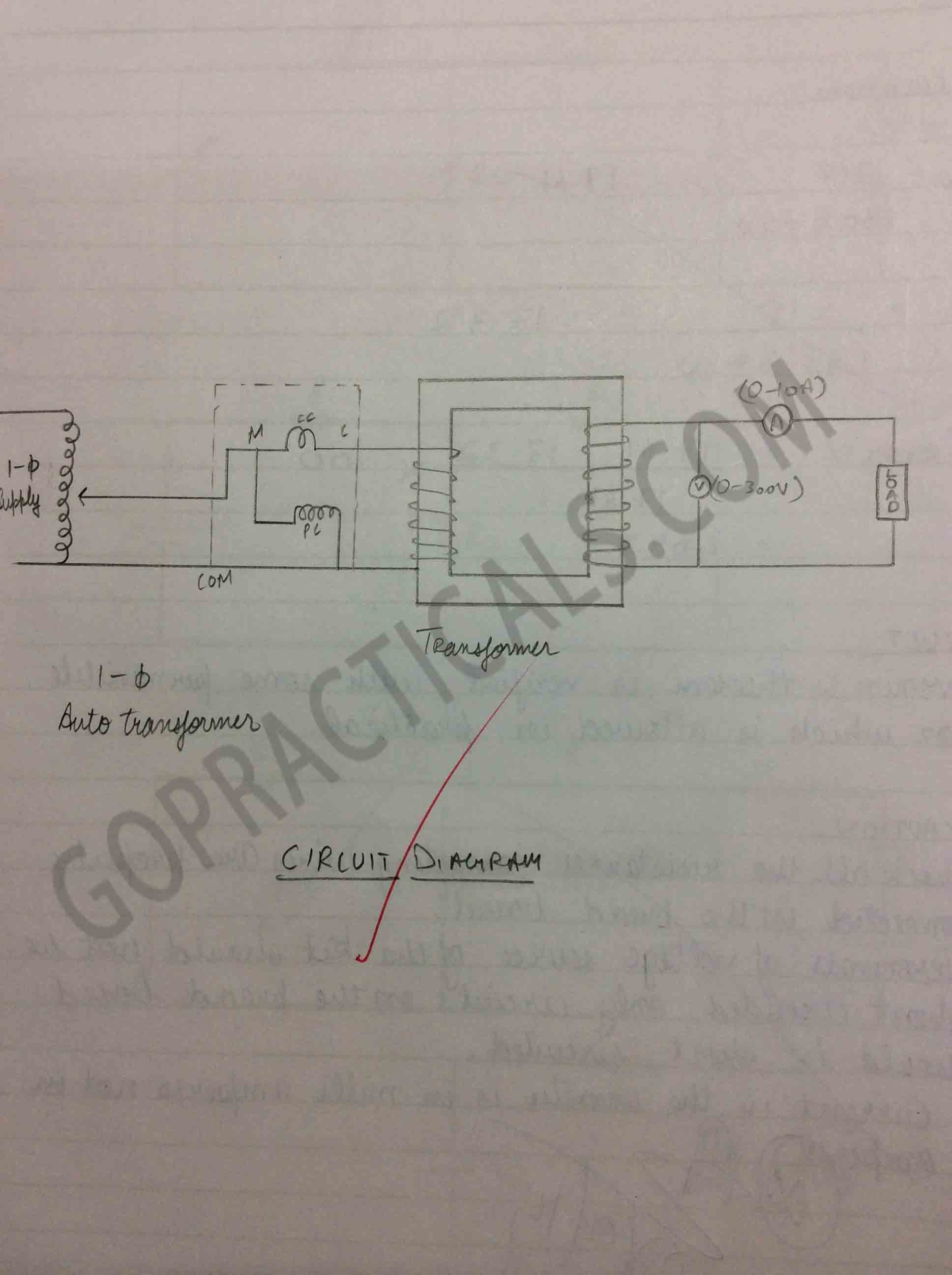 To determine the efficiency and voltage regulation of a Single Phase ...