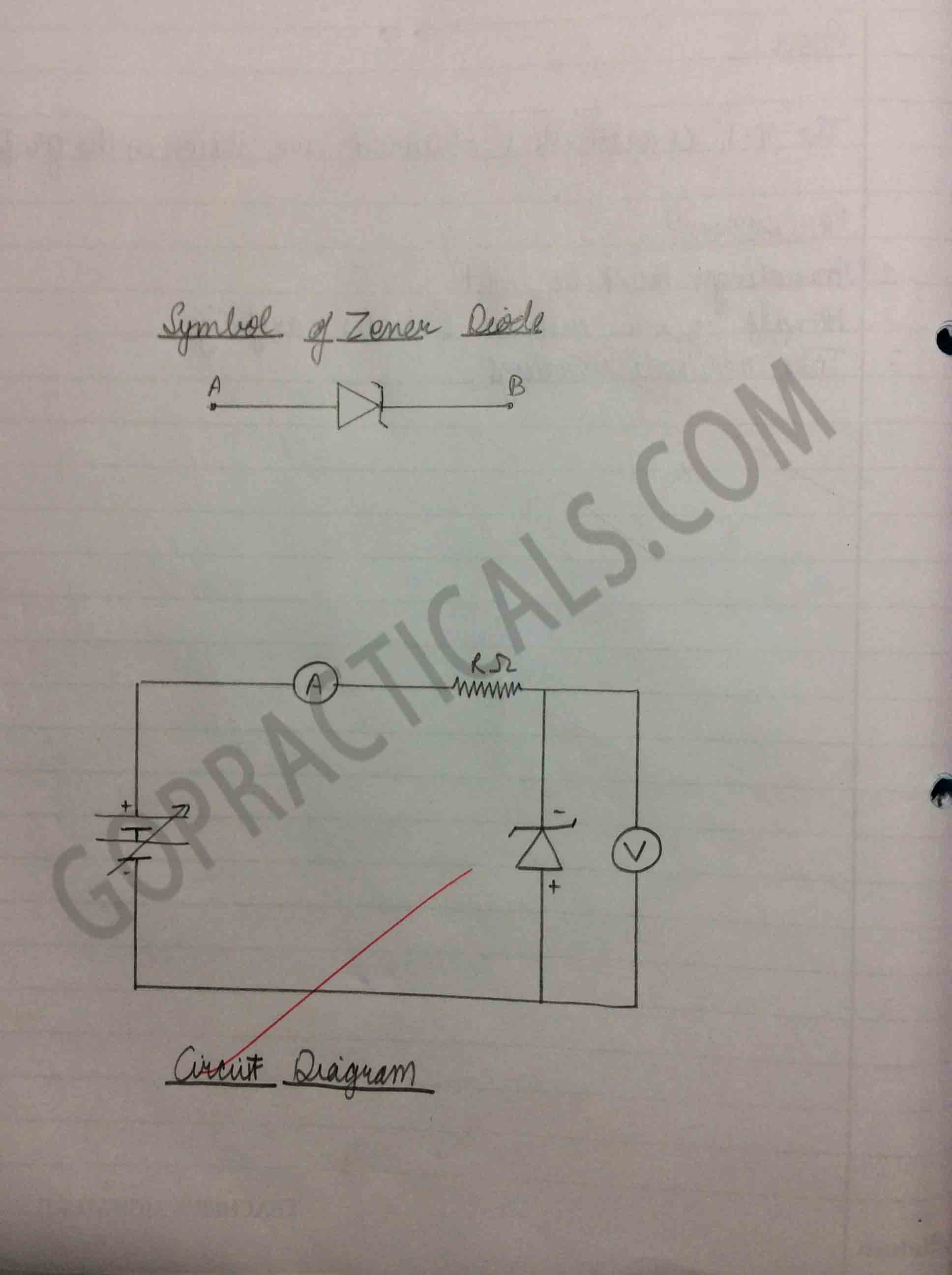 V-I characteristics of Zener Diode-2