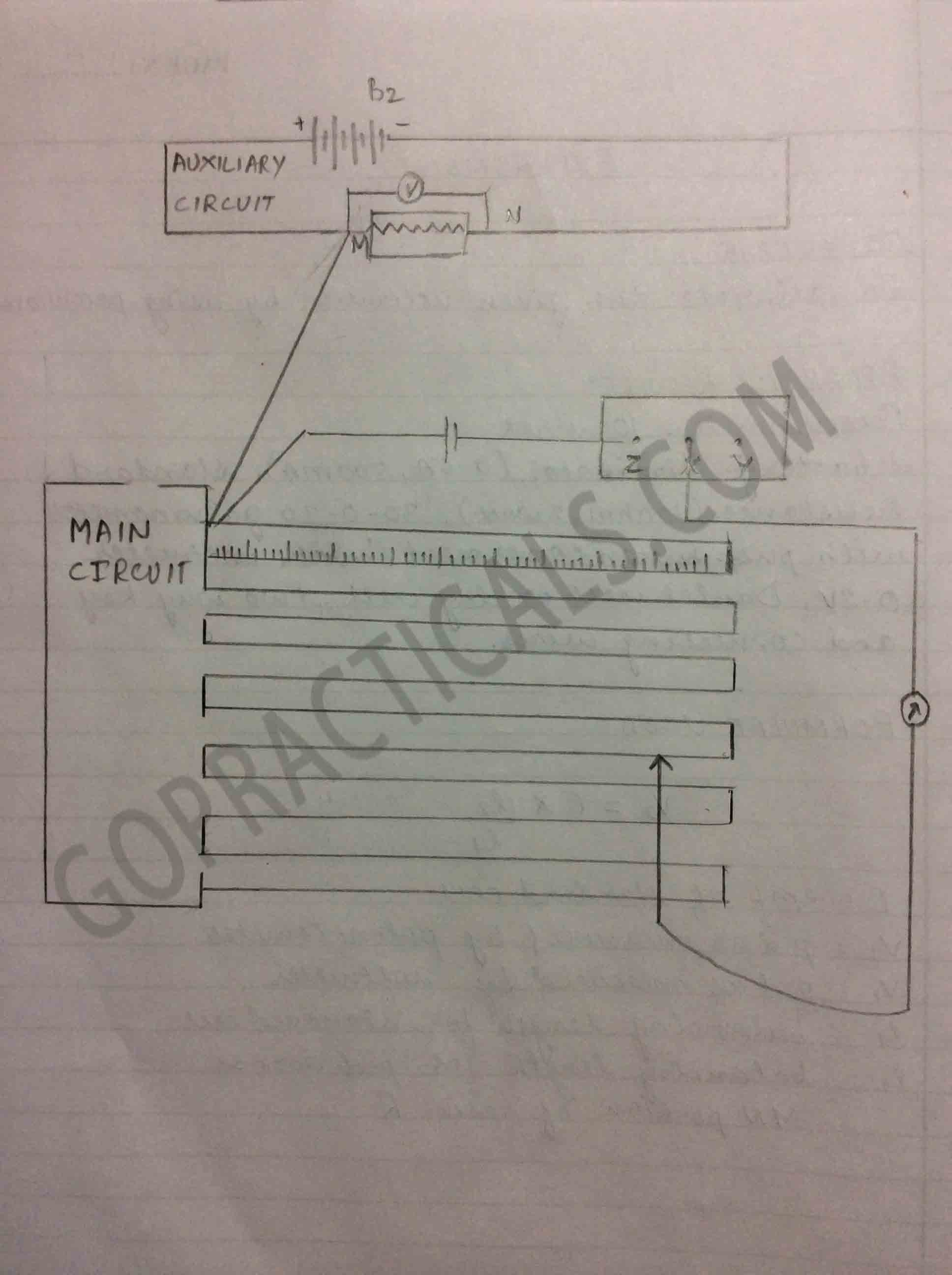 To Calibrate Voltmeter With Potentiometer Physics Practical Circuit Diagram Calibration Of 2